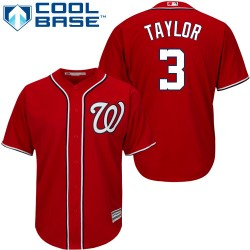 Men's Majestic Washington Nationals 3 Michael Taylor Replica Red Alternate 1 Cool Base MLB Jersey