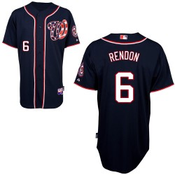 Men's Majestic Washington Nationals 6 Anthony Rendon Authentic Navy Blue Alternate 2 Cool Base MLB Jersey