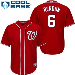 Men's Majestic Washington Nationals 6 Anthony Rendon Authentic Red Alternate 1 Cool Base MLB Jersey