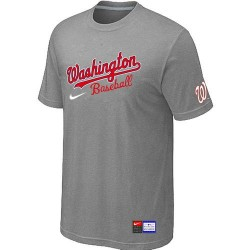 MLB Men's Washington Nationals Nike Practice T-Shirt - Grey