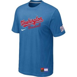 MLB Men's Washington Nationals Nike Practice T-Shirt - Light Blue
