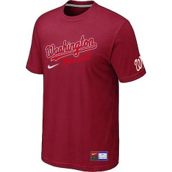 MLB Men's Washington Nationals Nike Practice T-Shirt - Red