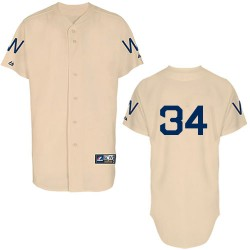 Men's Majestic Washington Nationals 34 Bryce Harper Replica Cream 1924 Turn Back The Clock MLB Jersey